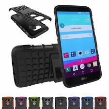 Hybrid Shockproof Heavy Duty Hybrid Armor Rugged Stand Case Cover For LG Phones