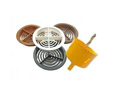 70mm Circular Soffit Vent Airflow Flat Board Round Roof Ventilation Discs