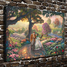 24x36inch Oil Painting HD Print Gone With The Wind on Canvas Modern Deco Wall