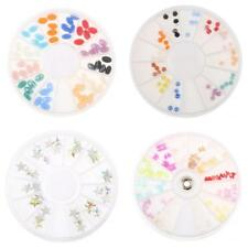 3D Nail Art Rhinestone Oval/Round/Butterfly/Five-star Tip Craft Decoration Wheel