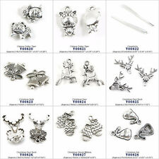 Jewelry Making Charms Chinese Zodiac Tiger Chopsticks Xmas Deer Bells Buck Hat