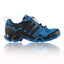 Adidas Terrex Swift Mens Blue Black Gore Tex Waterproof Trail Walking Shoes
