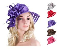 Noble Women's Satin Organza Church Royal Ascot Derby Kentucky Wedding Party Hat