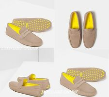 ZARA LEATHER LOAFERS WITH CONTRAST SOLE - Men's Suede Penny Driver Shoes Summer
