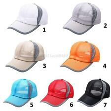 Baseball Army Cap Blank Plain Solid Sports Visor Sun Golf Hat Men Breathable Cap