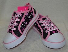 Hello Kitty Toddlers Girl's Purr-Fect Black / Pink Sneakers- Size 7/8/9/11