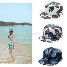 Men Women Cap Snapback Hip Hop Hat Pineapple Print Brim Adjustable Baseball Cap