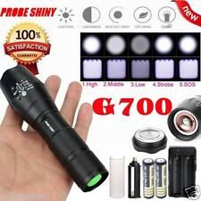 G700 Zoomable Tactical 2000 Lumen 5 Modes CREE XML T6 LED Torch Lamp Light 18650