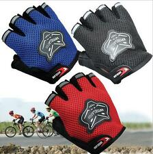 Outdoor Sports Bike Cycling Bicycle Gel Half Fingers Fingerless Gloves Adult&Kid