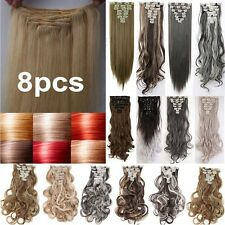 Ombre clip in hair extension full head 18clips extension as human hair real H88
