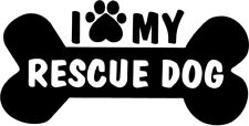 I Love My Rescue Dog - Car Window Laptop Vinyl Decal Sticker