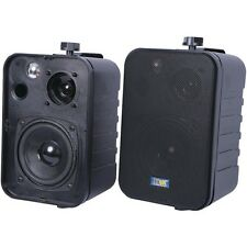 3-Way Indoor/Outdoor 50-Watt Speakers (Black)