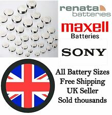 Renata/Sony/Maxell Batteries ALL SIZES Watch Battery Car Calculator Cell Scales