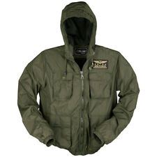 Mil-Tec Tactical Air Force Summer Mens Jacket Military Pilot Hooded Coat Olive