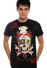 ED Hardy Men's SOLD OUT SKULL t-shirt Foil Black NEW