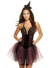 Ann Summers Witch Costume Halloween Fancy Dress Black Purple Bewitched £25 BNWT