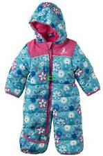 NWT $80-Girls Rugged Bear Blue Floral Hooded Winter Snowsuit-sz 0/3 & 3/6 mths