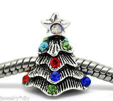 Wholesale JD Rhinestone Christmas Tree Beads Fit Charm Bracelet 16x14mm