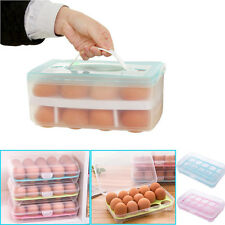 Refrigerator Food Eggs Case Airtight Storage Single/Double Layer Container Box