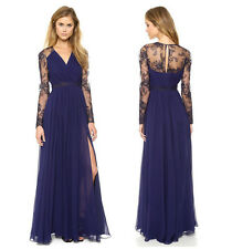 Sexy Lady Lace Long Maxi Chiffon Evening Formal Party Dress Bridesmaid Prom Gown