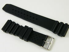 HQ 18mm 20mm 22mm 24mm SOFT SILICONE RUBBER DIVER STRAP XL WATCH BAND For Seiko