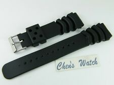 HQ 18mm 20mm 22mm PVC RUBBER DIVER STRAP XL WATCH BAND For Seiko fit fat pins