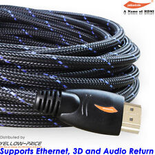 Braided High Speed HDMI Cable 6FT 10FT 5FT 25FT HDMI 1.4 Ethernet 3D FHD1080P