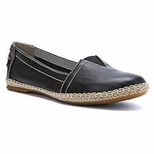 Womens Hush Puppies® H505489 Coppelia A-Line Blk Slip-On Flats Casual Shoes Sz