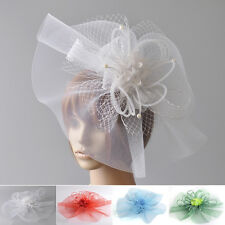 women fascinator hair clip hat flower bridal wedding ascot proms derby accessory