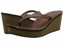 Womens Cushe® UW01220 Fresh Anisa Brown Wedge Sandals Medium Width Size