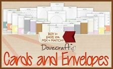 Dovecraft Scrapbooking Card Blanks + Envelopes Collection FULL RANGE