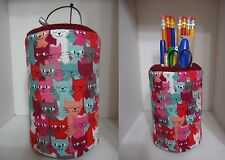 Multi Cats Fabric Eyeglass Case OR Fabric Pencil Holder Cup Sweet Gift Color Cat