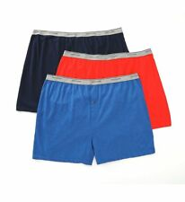 Fruit Of The Loom 3P72XBM Big Man's Assorted Cotton Knit Boxers - 3 Pack