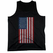 Distressed American Flag Black Men's Tank Tops for Independence Day