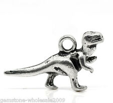 Wholesale Lots Silver Tone Dinosaur Charms Pendants 22x12mm