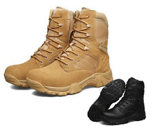 Mens Leather Special Military Tactical Combat Desert Climbing Safety Work Boots