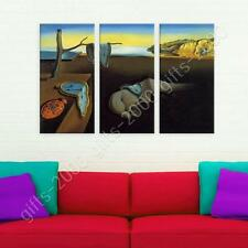 Synthetic CANVAS  Salvador Dali The Persistence of Memory 3 Panels poster