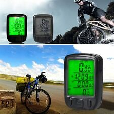 Black Utility Cycling LCD Bicycle Odometer Waterproof Bike Cycle Speedometer