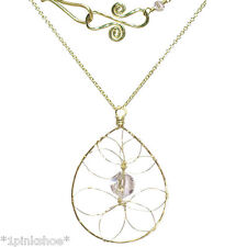 Necker 1-27 ~Drop Hoop Necklace with Stone & Metal Choice