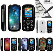 For LG Cosmos 3 VN251S Case Hard Snap On 2 Piece Slim Shell Galaxies