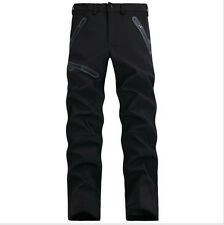 Mens Softshell Pants Waterproof Windproof Hiking Outdoor Soft Shell Trousers