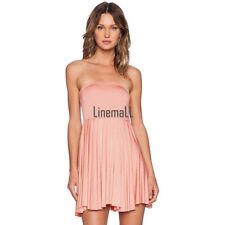 Women Sexy Strapless Off Shoulder Backless Casual Party Short Mini Dress LM