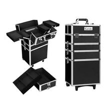 7 in 1 Portable Beauty Make up Cosmetic Trolley Case in Black, Silver