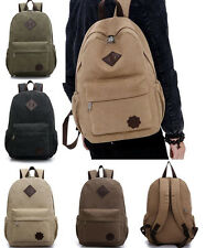 Mens Vintage Canvas Backpack Rucksack Shoulder Canvas College School Bag Satchel