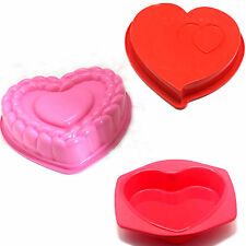 Silicone Heart Love Cake Chocolate Muffin Mold Mould Tray Pan Tin Baking Kitchen