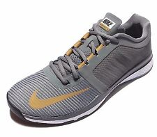 NIKE men's ZOOM SPEED TR3 Training Running SHOES 804401-070 GREY,GOLD size 10.5