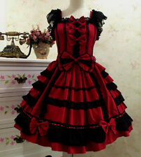 Japanese Vintage Punk Gothic Lolita Dress Lace Sweet Cosplay Dress Costume