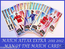 Choose MATCH ATTAX EXTRA 2011/12 Topps 2012 MAN OF THE MATCH Cards 11 12 MOTM
