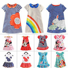 Kids Girl Cartoon Minnie Mouse Party Tutu Dress T-Shirt Sundress Toddler Clothes