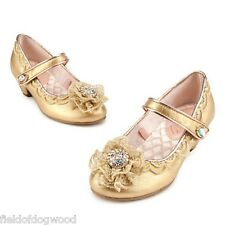 New Disney Store Princess AURORA Maleficent Deluxe Costume Shoes 11/12 13/1 2/3